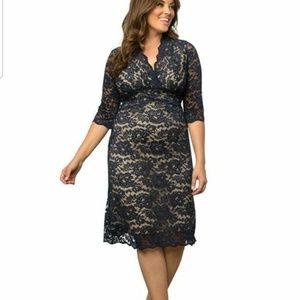 KIYONNA Scalloped Boudoir plus size lace dress